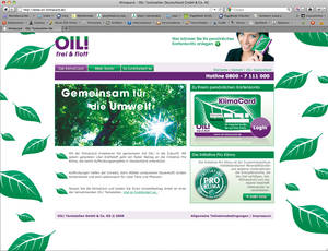 Screenshot Oil Klimacard